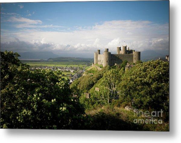 Harlech Castle, Snowdonia, Gwynedd, North Wales, Uk Metal Print