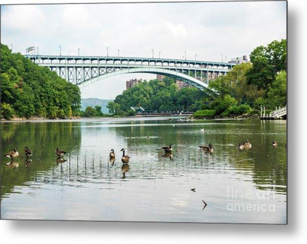 Henry Hudson Bridge Metal Print