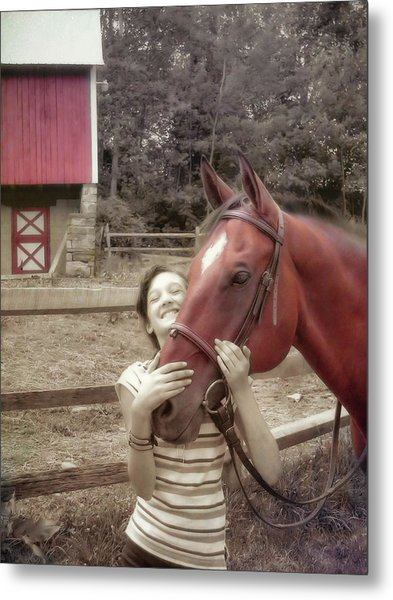 Horse Crazy Metal Print by JAMART Photography