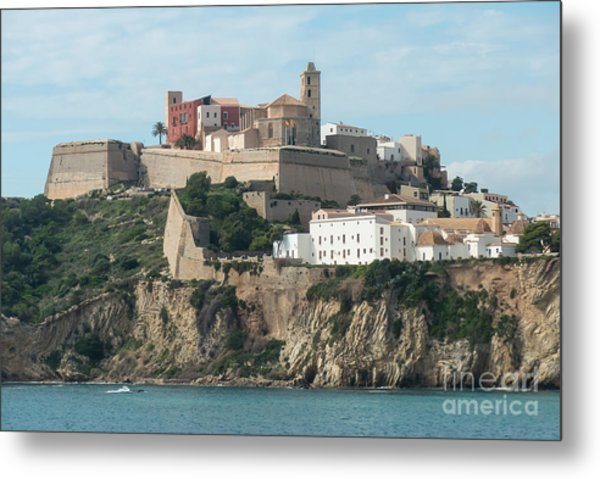 Ibiza Town And Castle Metal Print