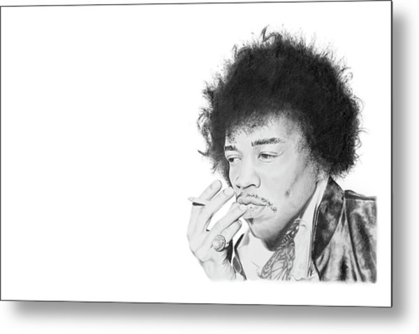 Jimi Hendrix Metal Print by Don Medina