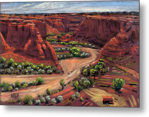 Junction Canyon De Chelly Metal Print by Donald Maier