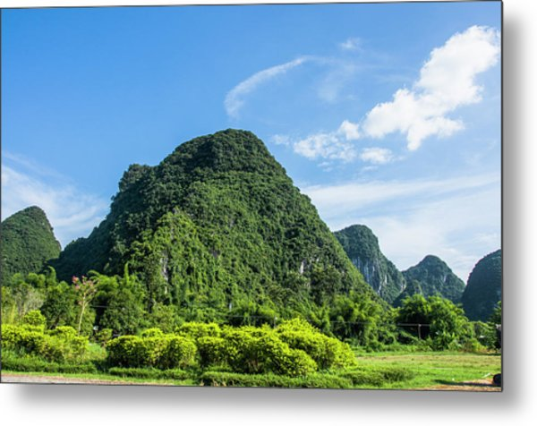 Karst Mountains Scenery Metal Print