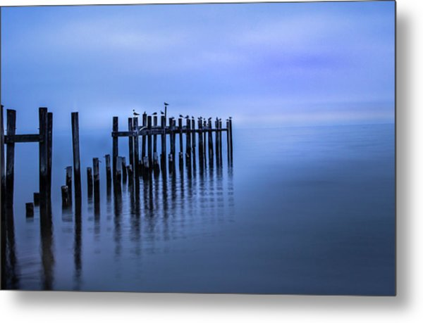 Colorful Overcast At Twilight Metal Print