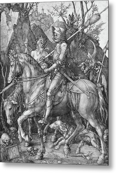 Knight Death And The Devil Metal Print