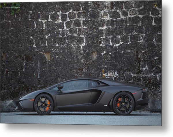 Metal Print featuring the photograph #lamborghini #aventador  by ItzKirb Photography
