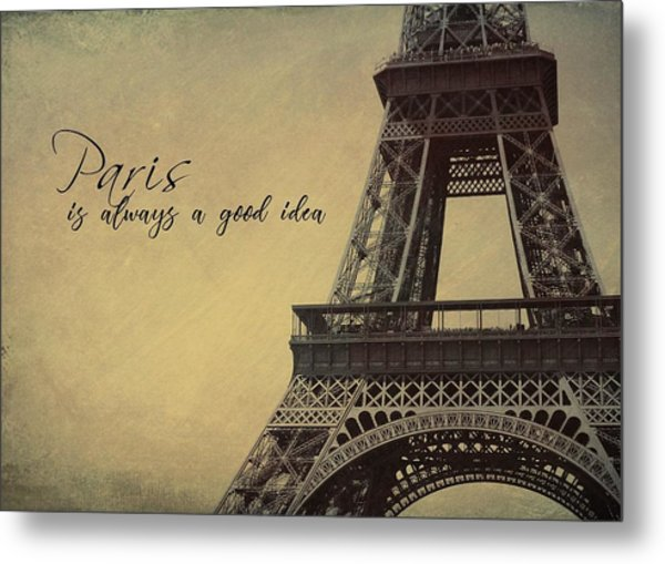 Le Jules Vernes Quote Metal Print by JAMART Photography