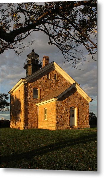 Lighthouse Old Field Point New York Metal Print