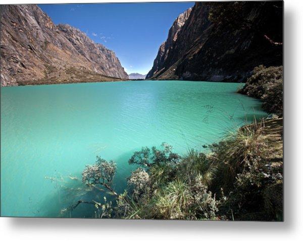 Llanganuco Lakes Metal Print