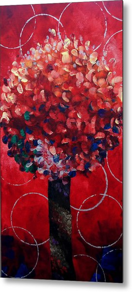 Lollipop Tree Red Metal Print