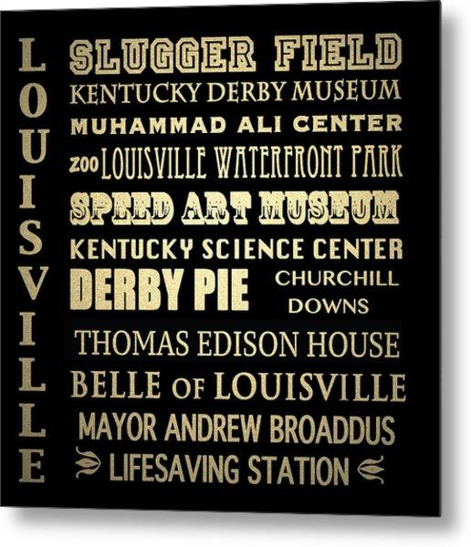 Louisville Famous Landmarks Metal Print