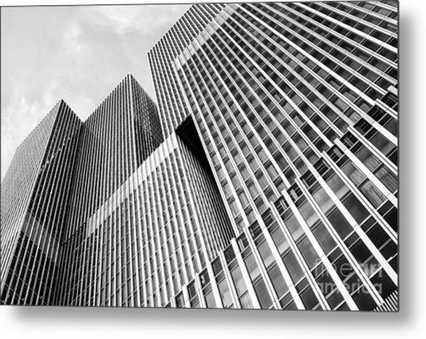 Low Angle View Of A Huge Skyscraper Metal Print