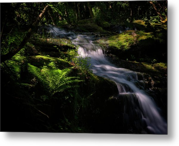 Lynn Mill Waterfalls Metal Print
