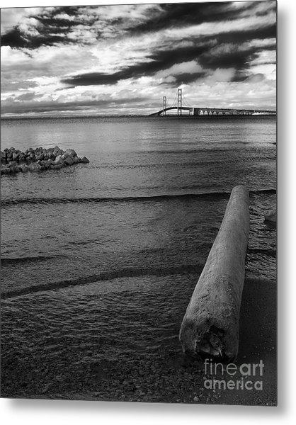 Mackinac Bridge - Infrared 01 Metal Print