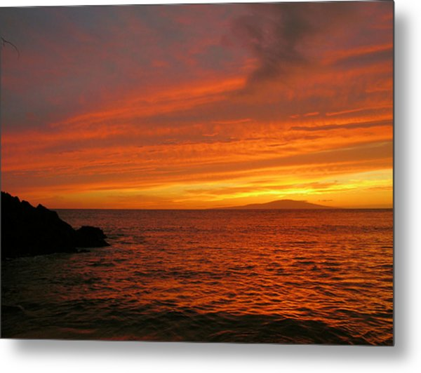 Makena Sunset Metal Print by Stephen  Vecchiotti
