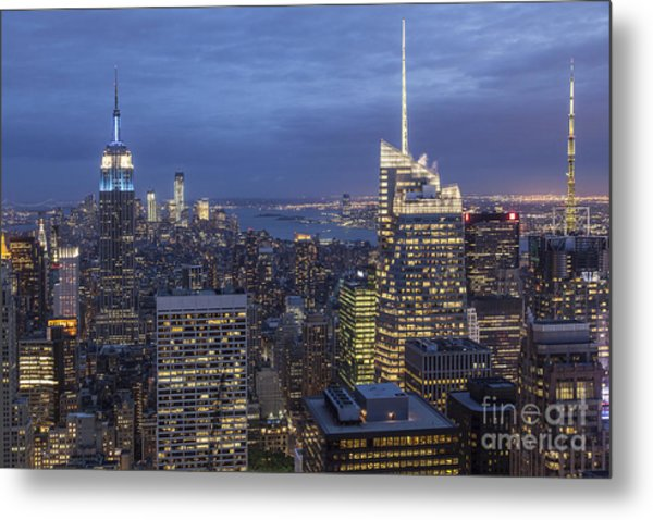 Metal Print featuring the photograph Manhattan Skyline New York by Juergen Held