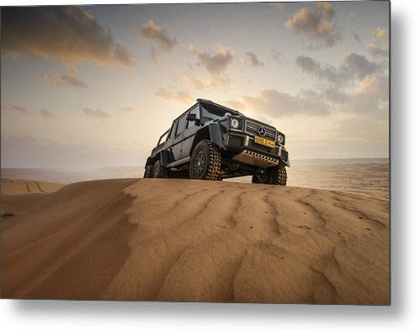 Mercedes G63 6x6 In Oman Desert Metal Print