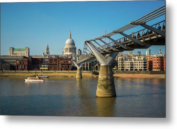 Metal Print featuring the photograph Millennium Bridge by Stewart Marsden