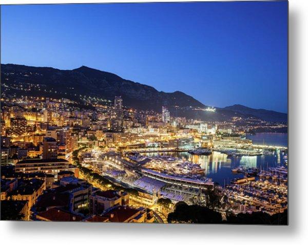 Monaco By Night Metal Print