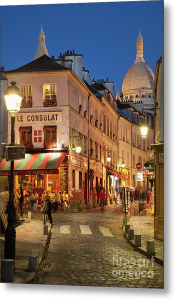 Montmartre Twilight Metal Print