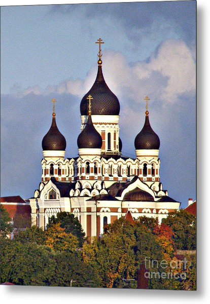 Nevsky Cathedral Estonia Metal Print