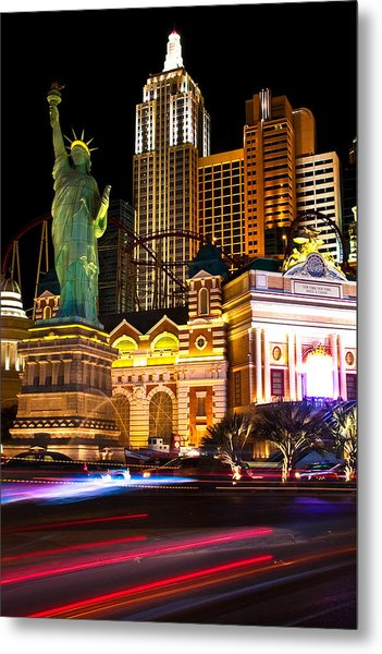 New York New York Casino Metal Print by James Marvin Phelps