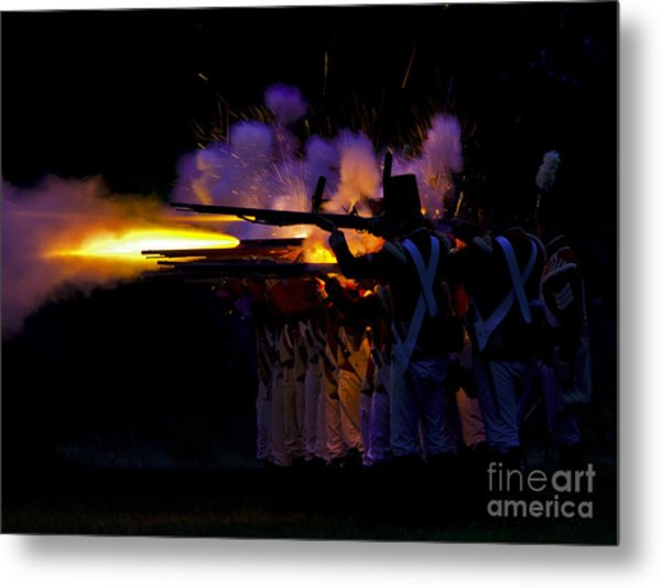 Night Battle Metal Print
