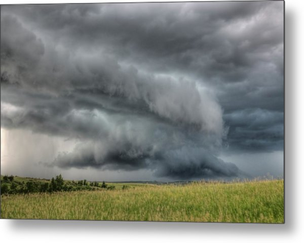 North Dakota Thunderstorm Metal Print