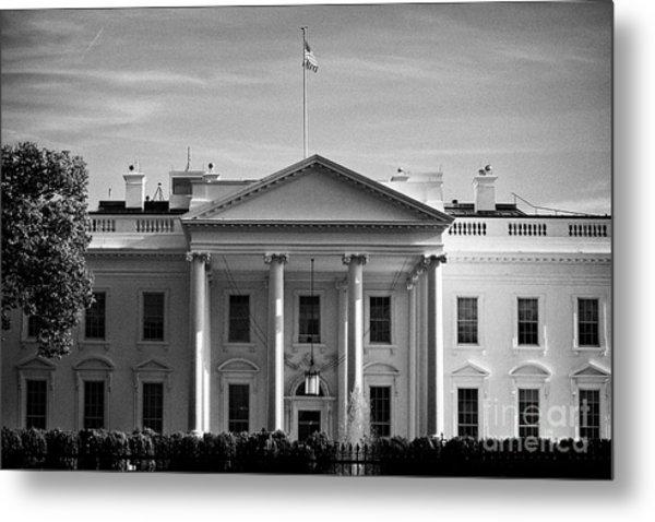 northern facade of the white house Washington DC USA Metal Print