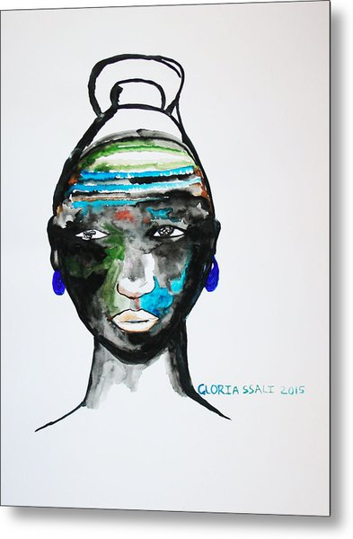 Nuer Bride - South Sudan Metal Print