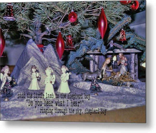 O Holy Night Quote Metal Print by JAMART Photography