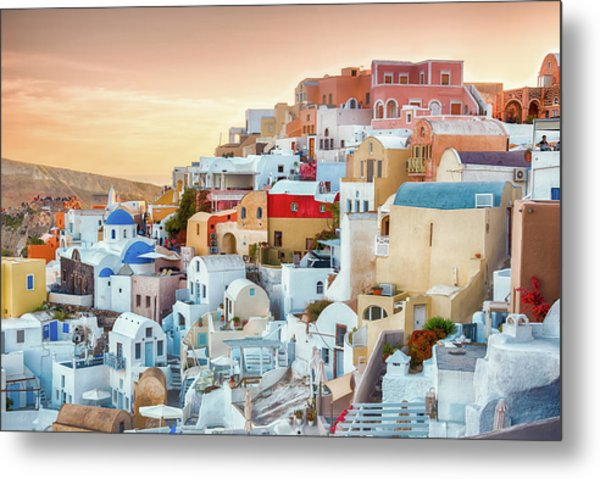 Oia, Santorini - Greece Metal Print