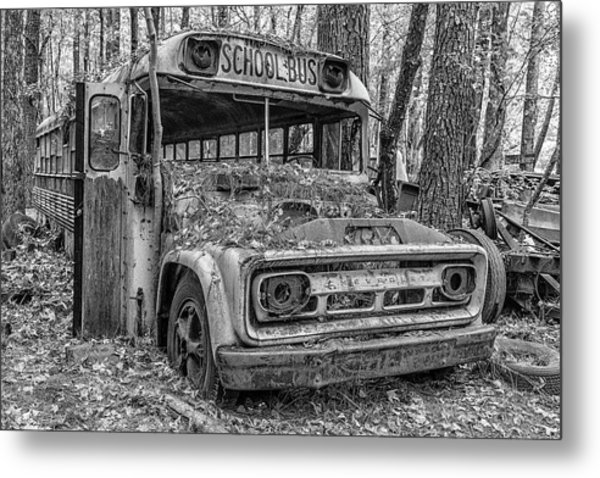 Old School Bus Metal Print