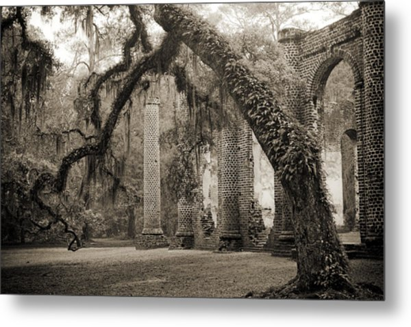 Old Sheldon Church Ruins Metal Print