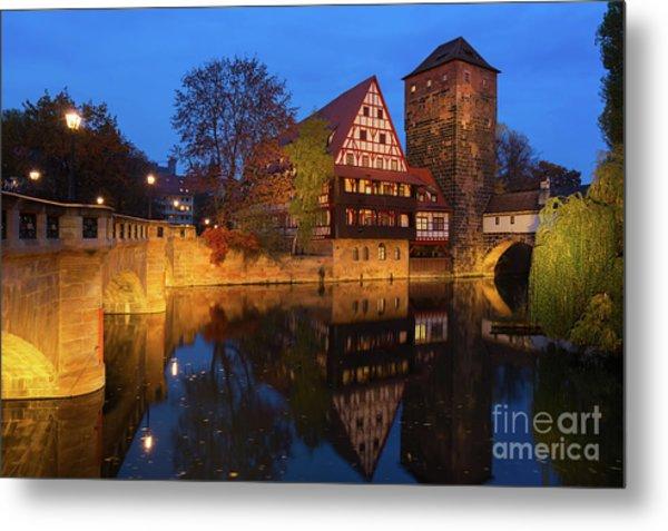 Nuremberg At Night Metal Print