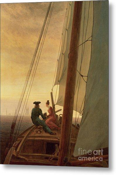 On Board A Sailing Ship Metal Print