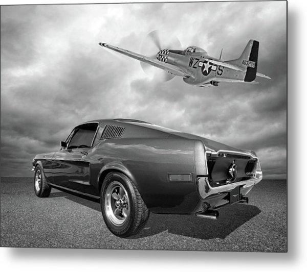 p51 With Bullitt Mustang Metal Print