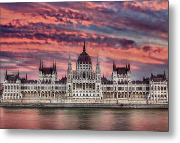 Pink Parliament Metal Print