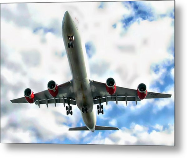 Passenger Plane Metal Print