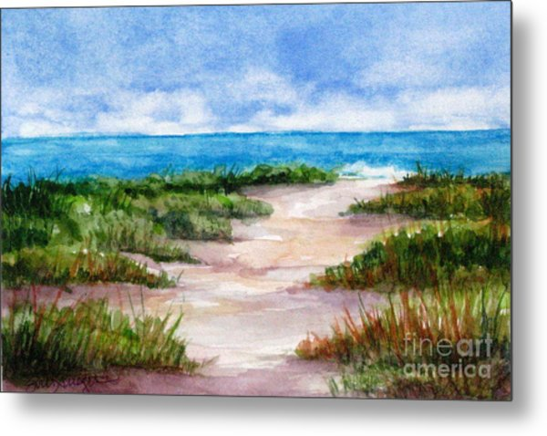 Path To The Beach Metal Print by Suzanne Krueger
