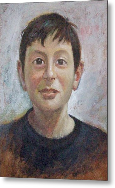 Portrait Of A Boy Metal Print by George Siaba