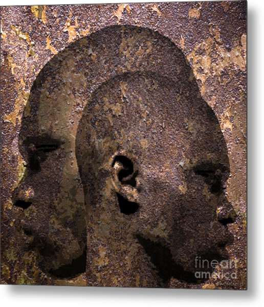 2 Profiles In One Metal Print