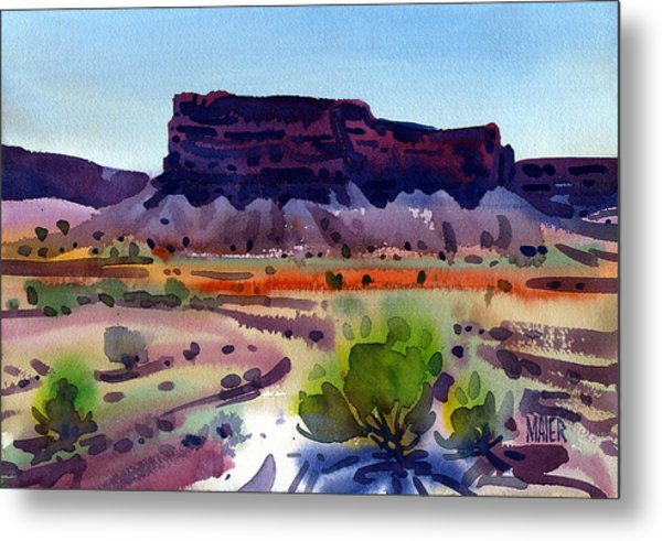 Purple Butte Metal Print by Donald Maier
