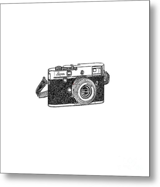 Rangefinder Camera Metal Print
