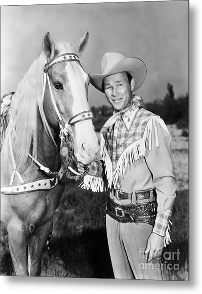 Metal Print featuring the photograph Roy Rogers by Granger
