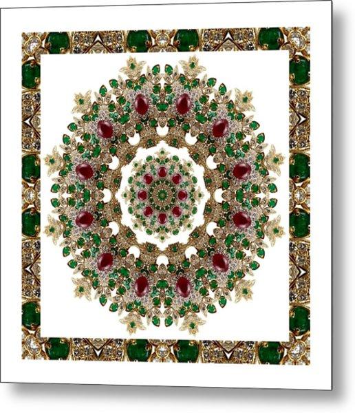 Ruby And Emerald Kaleidoscope Metal Print