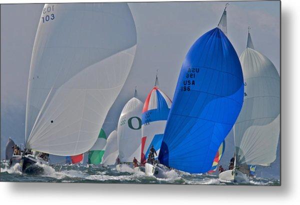 San Francisco Bay Sailboat Racing Metal Print