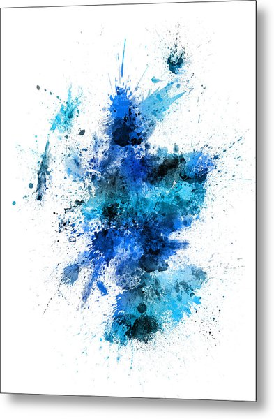 Scotland Paint Splashes Map Metal Print