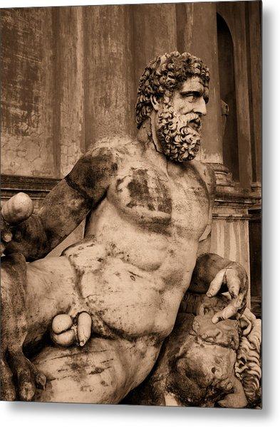 Sculpture Vatican Museum Rome Italy Metal Print by Wayne Higgs