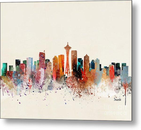 Seattle Skyline Metal Print by Bri Buckley